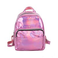 Wholesale beads school bags for sale - Group buy 2019 New Women Bag Laser Holographic Backpack For Lady Girl Student School Travel Hologram Rucksack High Quality Waterproof