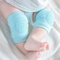 Wholesale elbow pads crawling resale online - Baby Cotton Terry Kneelet Infants Anti skip Kneecap Knee Cap Elbow Pad Crawling Safty Protection Props Kids Protective Kneepads