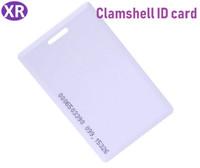 weiße proximity card großhandel-1500Pcs Proximity Card 125Khz RFID-Identifikations-ID-Clamshell-Weiß-RFID-Karte mit dem Loch für einen Clip 1.8mm Dicke Gute Qualität