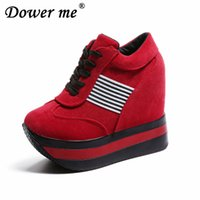 Wholesale platform muffin shoes for sale - Autumn super high waterproof table muffin thick sole student Walking Increased CM slope thick bottom of lace casual shoe