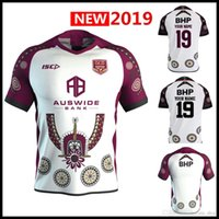 Wholesale Custom name and number MAROONS INDIGENOUS TRAINING JERSEY QLD rugby Jerseys Queensland Maroons Origin Jersey Rugby shirt S XL