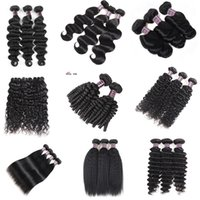 Wholesale unprocessed curly mixed hair weave for sale - 8 quot Deep Loose Brazilian Body Wave Hair Extensions Unprocessed Peruvian Human Hair Bundles Deep Wave Water Curly Hair Weave Bundles