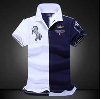 erkekler giyim xxl toptan satış-Kısa kollu polo gömlekler Büyük metre moda rahat saf renk Yüksek kalite polo gömlek erkek giyim XXLralph lauren polo