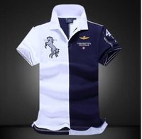 ralph polo xxl großhandel-Kurzarm Polo-Shirts Big Yards Mode lässig reine Farbe Hochwertige Polo-Shirt Herrenbekleidung XXLRalph Lauren Polo
