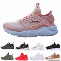 pretty nice a95fd d8eca Classic Huarache 1.0 4.0 Running Shoes Mens Women Huaraches Balck White  Oreo Rose Gold Hurache Sport Shoe Designer Sneakers Trainers 36-45