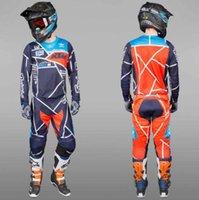 traje de carreras de jersey al por mayor-2020 nueva KTM Racing equipo de carreras de motocicleta traje de combinación de manga larga traje traje de carreras de motocross Jersey