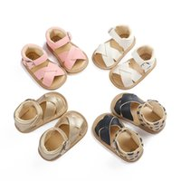 Wholesale white shoes new style boys resale online - New style Leopard Brand Boys girls Summer sandals Pu leather kids sandals Non slip Baby moccasins crib Shoes