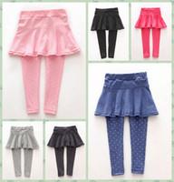 17df14e100e9b 2019 Fashion design Girl Skirt Children dot Pants clothing Spring Fall Kids  Girls Leggings Trousers 2-7Y