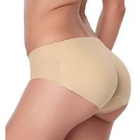 dikişsiz iç çamaşırı yastıklı külot toptan satış-İç kadınlar Sorunsuz Seksi iç çamaşırı Underwears Külot Külot kalça pedleri mujer silikon kalça yastıklı külot 1. pantalones
