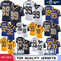 Wholesale carson wentz jersey stitched resale online - 30 Todd Gurley Los Angeles Jerseys Aaron Donald Ram Jared Goff Eric Weddle Super Bowl LIII Football Jerseys Stitched