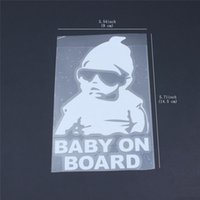Wholesale baby board stickers for cars for sale - Group buy Best selling Baby on Board Sticker Funny Cute Cool Safety Caution Decal Sign for Car Windows and Bumpers c063