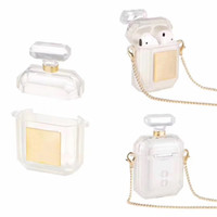 Wholesale apple perfume bottles resale online - High Quality Perfume Bottle Case with anti lost Buckle for Apple Airpods Airpods Pro two Colors Optional with retail package