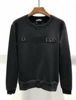 nouveaux designs de chemises décontractées achat en gros de-Sweat-shirt chaud en coton de nouvelle conception pour hommes D2 pour hommes / femmes Casual iocn rayé motif brodé à manches longues pull veste