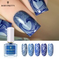 Wholesale stamp stamping image for sale - Group buy BORN PRETTY Beach Walking Series ml Nail Stamping Polish Varnish Stamp Lacquer Light Blue Manicure Art Image Printing Vernis
