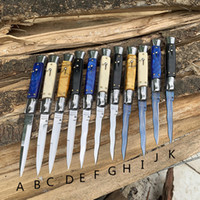 Wholesale knife fold resale online - 9 Inch Italian mafia Automatic knife AUTO Tactical knife HRC Satin Single Blade Alloy Handle EDC Hunting Pocket knives