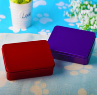 Wholesale coin container resale online - DHL Tin Case Storage Box Metal Rectangle Container for beads business card Coin candy Metal Organizer NN