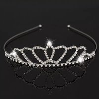 Beautiful Shiny Crystal Bridal Tiara Party Pageant Silver Plated Crown Headband Cheap Wedding Tiaras Accessories MMA1625
