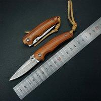 şam cep bıçağı mini toptan satış-Şam mini katlanır bıçak gülağacı saplı çok kamp survival pocket Knife açık bıçak