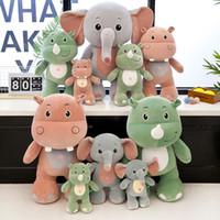 peek boo toys al por mayor-25CM Peek-a-boo Sleeping Elephant Stuffed Doll Cute Hippo Animal de peluche de juguete de peluche Animales Puppy Toys para niños