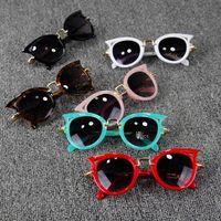 marken-sonnenbrillen für kinder großhandel-2019 Cat Eye Marke Designer-Sonnenbrillen für Kinder Mode-Mädchen-Jungen Nette Sun Glas Kinder Gradient UV400 Kawaii Schöne Brillen