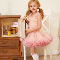 Wholesale gauze baby clothing resale online - 6 Colors Summer Baby Princess dresses Girls sling Lace tutu Dress suspender Gauze Bud Skirts for birthday party outfits kids clothing M1924