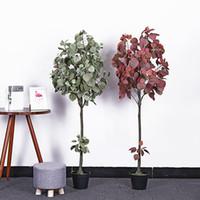 ingrosso piante di melo-pianta artificiale pianta verde 140cm melo vaso interno soggiorno decorativo piante finte mini