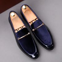 i̇talyan resmi ayakkabılar toptan satış-İtalyan moda zarif oxford ayakkabı erkek ayakkabı için büyük boyutları erkekler resmi ayakkabı deri erkek elbise loafer'lar adam masculino üzerinde kayma Boyutu: 39-44