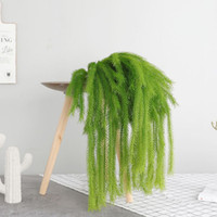 Wholesale artificial hanging plant decoration wedding resale online - Artificial Frosted Cedar Wall Hanging Fake Plant Wedding Home Christmas Seasonal Green Decorations