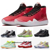 Wholesale kevin durant boys basketball shoes resale online - KD Boys Kids Kevin Durant S KD12 XII Zoom Men Youth Girls Kids Basketball Shoes Elite Mid Sport Sneakers