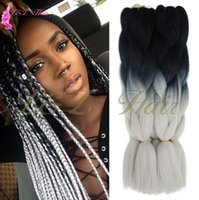 Wholesale x braiding hair online - Box Braids Crochet Hair Extension s Crochet Box Braid Hair Weave Curly End spring Twist Crochet Cheap Price Synthetic x pression Ombre Brai