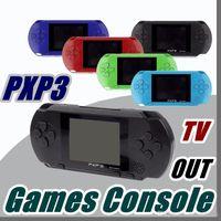 jogo de vídeo pxp venda por atacado-DHL Fábrica Atacado PXP3 16Bit Consola de Jogos Handheld PVP Retro TV-Out Cartuchos de Jogos de Vídeo PXP Gaming Console B-ZY