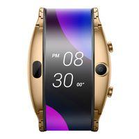 "Original Nubia Alpha Smart Cell Phone Watch 4.01"" Foldable Flexible Screen Snapdragon Wear 2100 Quad Core 1GB RAM 8GB ROM 5.0MP Smart Phone"