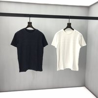 Wholesale black white clothing stores resale online - 2020 Europe France Paris Towel fabric Full body letters High quality T Shirt Fashion Women Clothes Mens T Shirts Casua Specialty store Same