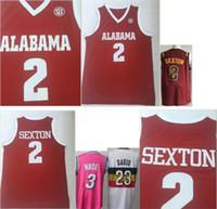 camisetas de uniforme de beisbol al por mayor-Alabama # 2 Collin Sexton College 23 Anthony Davis Uniformes de baloncesto Camisetas Miami 3 Dwyane Wade Earned Edition cosido camisetas de béisbol