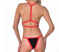 Wholesale new micro swimsuits resale online - Bandeau swimsuit push up buckle swimwear women High waist bikini Sports bathing suit Summer bathers Brazil micro bikini new S XL