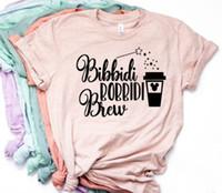 camisa de café divertida al por mayor-Mujeres Bibbidi Bobbidi Boo camiseta Bibbidi Bobbidi Brew Coffee Shirt Funny Mouse Mickey Coffee Graphic Tee Y19051104