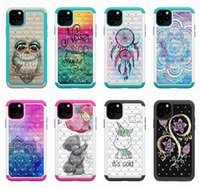 Wholesale iphone bear cases online – custom 2 in Diamond Hybrid Butterfly Tower Flower bear TPU PC Case for iphone pro max Samsung note plus