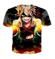 camisas ocasionais da camisa das mulheres t das mulheres venda por atacado-Estilo verão Homens / mulheres de Manga Curta T-shirt Meu Herói Academia 3D Impressão Digital de T-Shirts para T Camisas Soltas Casual Tees Tops USQ07