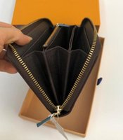 Wholesale money wallet design resale online - ZIPPY WALLET VERTICAL the most stylish way to carry around money cards and coins famous design men leather purse card holder long business