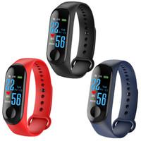 pulseras deportivas para niños al por mayor-M3 Band Plus Sport Pulsera Fitness Tracker reloj inteligente Monitor de pulsera Monitor de ritmo cardíaco de 0.96 pulgadas Smartband