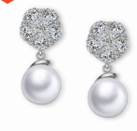 Wholesale knot earings resale online - fashion low price more color diaoond crystal pearl lady s earings vhbihjh