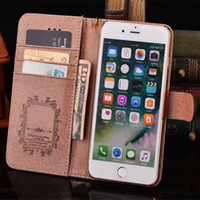 transparente mobile samsung großhandel-Luxus druck pu leder handy case für iphone x xs max xr 8 7 6 6 s plus handy brieftasche case für samsung s10 s9 s8 s7 note 9 8
