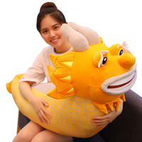 Wholesale big stuffed dragon for sale - Group buy simulation dragon plush toy big stuffed Chinese dragon doll Zodiac dragon for children adult gift ceative deco inch cm DY50761
