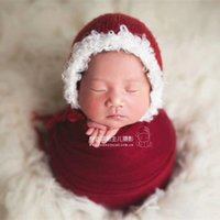Wholesale jersey knits fabric resale online - Christmas Stretch fabric Stretch jersey knit wrap Newborn photography props Blue Knit Denim Stretch Wrap
