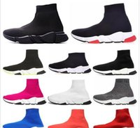 markenwohnungen groihandel-Balenciaga Sock shoes Luxury Brand Trainer Schwarz Rot Gypsophila Triple Black Fashion Flache Socken Stiefel Freizeitschuhe Speed ​​Trainer Runner