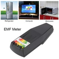 dozimetre test cihazı toptan satış-Sıcak Elektromanyetik Radyasyon Dedektörü LCD Genel EMF Metre Dozimetre Test Paranormal Araştırma Zararlı Maruziyet Ölçmek için