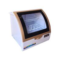ingrosso mini rondelle-Mini lavastoviglie per installazione gratuita per 6 set di stoviglie Sterilizzazione Lavastoviglie domestica automatica per piatti
