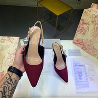 Wholesale elegant sexy casual wedding dresses for sale - Group buy 2020 Summer Women sexy red Dress Shoes Fashion Bow cm High Heel Pumps Women Lace Sandals Ladies Half slippers Elegant Wedding Shoes