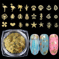Laser Flamingo Star Flower Metal Nail Glitter Sequins 3D Mixed Holographic Nails Pailette Flakes Manicure Nail Art Decoration Glitter Tips