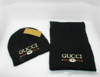 ausländische hüte großhandel-Z freies Verschiffen Schal und Hut für Männer und Frauen Satz Außenhandel Kappe Winter Marke Setdesign Schal